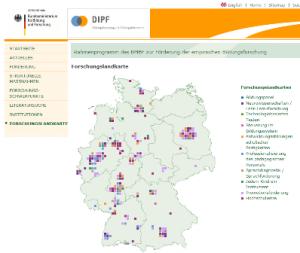 Forschungslandkarten BMBF-Rahmenprogramm empirische Bildungsforschung