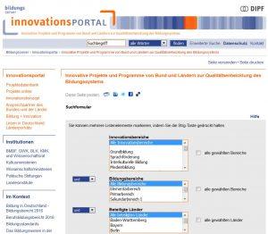 Innovationsportal des Deutschen Bildungsservers