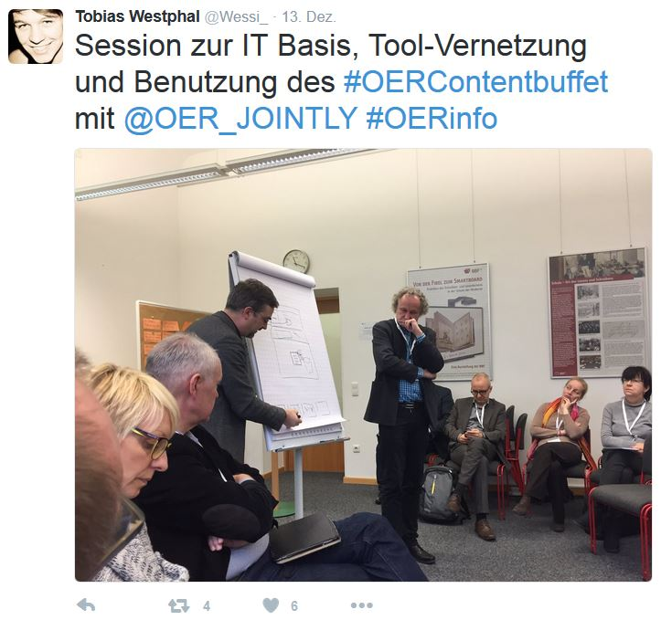 "Im Workshop ""IT für OER""."
