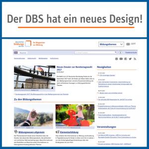 Der DBS hat ein neues Design! (Ansicht der Startseite)