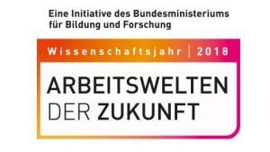 """Logo des Wissenschaftsjahrs 2018 """"Arbeitswelten der Zukunft"""""""
