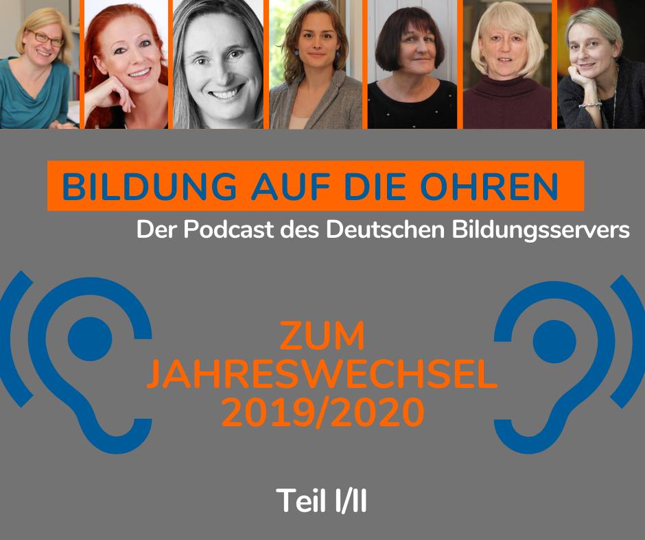 Sharepic zu Teil 1 des Jahresendpodcasts des Deutschen Bildungsservers