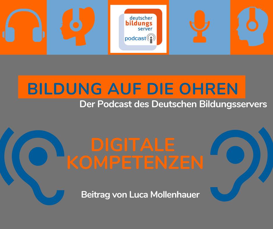 """Sharepic für Beitrag """"Digitale Kompetenzen"""" von Luca Mollenhauer"""