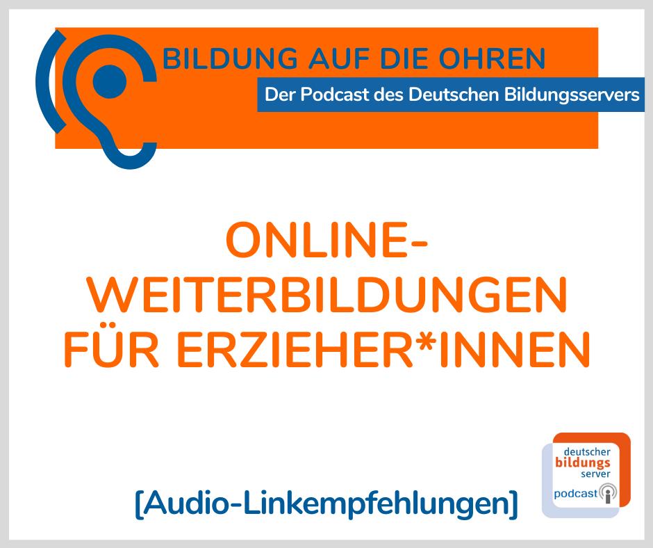 Sharepic für Podcast Online-Weiterbildungen für Erzieher*innen