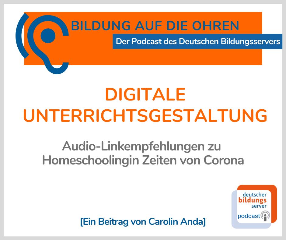"""Sharepic mit Titel und Autorennamen zur Podcast-Folge """"Bildung auf die Ohren"""""""