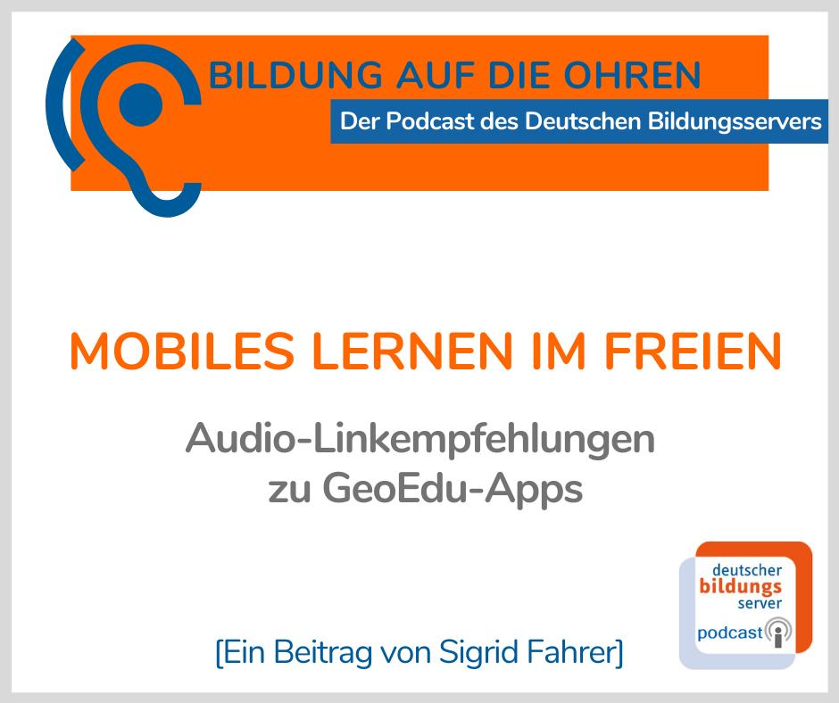 Bild mit Titel und Untertitel der AudioLinkempfehlungen zu Geo EduApps