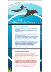 Grafik mit den zehn Leitlinen der Reckahner Reflexionen. Bei Klick auf die GRafik landet man auf der Webseite mit den Leitlinien.