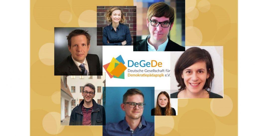 Collage mit Porträts der sechs Personen des DeGeDe-Teams