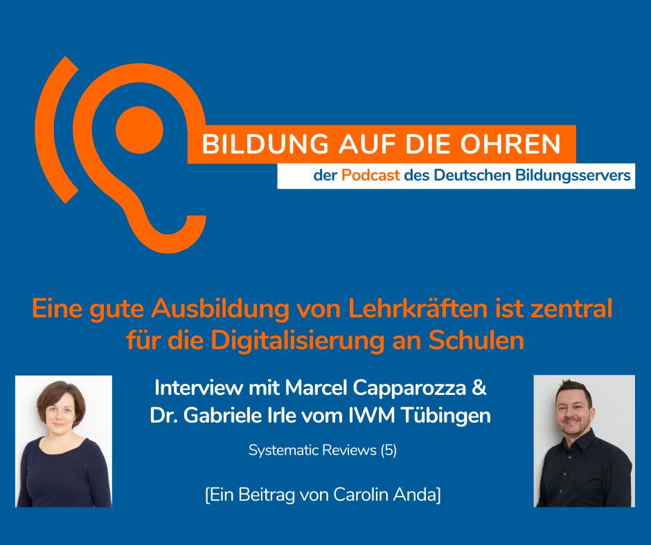 Sharepic zum Interview mit Marcel Capparozza und Dr. Gabriele Irle vom Leibniz-Institut für Wissensmedien